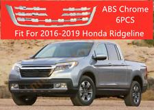 Fits 2016-2019 Honda Ridgeline Chrome Front Center Grilles Grill Cover Trim 6PCS