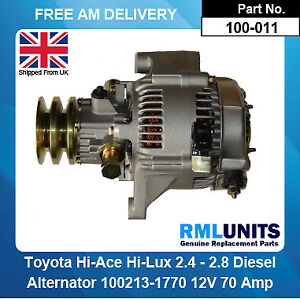 Alternator For Toyota Hi-Ace 2.4 2.8 Diesel 1995-2001 Brand New With Pump