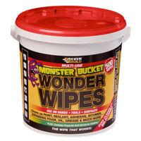 MONSTER WONDER WIPES TUB 500 WIPES EVERBUILD ANTIBACTERIAL CLEAN HANDS TOOLS