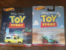 HOT WHEELS DISNEY PIXAR TOY STORY PIZZA PLANET TRUCK & RC CAR LOT OF 2 NICE CARD