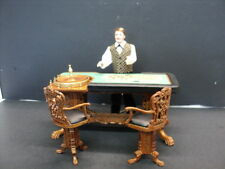 "Dollhouse Scale Bespaq ""Grande Casino"" Roulette Table/Walnut"