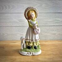 UCGC Porcelain Figurine Girl holding a Basket w/ lamb