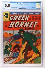 Green Hornet Comics #14 - Harvey 1943 CGC 5.0 Bondage cover.