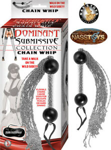 Chain Whip Tickle Spank Submissive Dominatrix S&M Waterproof Nasstoys Sex-Toys