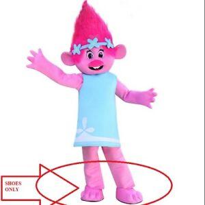 Troll poppy pink Shoes Costume Adult Halloween BIRTHDAY Disney Girl Party USA