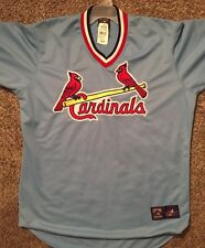 Majestic Cooperstown Collection St. Louis Cardinals Jersey Men's XL Blue NWT!!