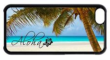 For Apple iPod 4 5 6 Aloha Hawaii Hawaiian Beach Palms Back Shell Case Cover