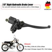 Bremspumpe Bremszylinder Bremshebel für Roller Motorrad Schwarz Rechts 7/8''22MM