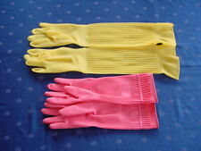 Gummihandschuhe extra lang Latex gloves  Rubber Gloves 2 Paar Gr.M Neu