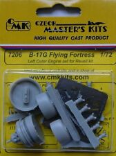 CMK 1/72 B-17G Flying Fortress Left Outer Engine Set for Revell # 7206