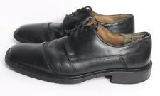 Structure Mens Black Leather Oxfords Cap Toe Dress Shoes made in Italy Size 8-D