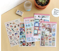 5 sheet Alice in wonderland stationery notebook calendar diary decorate stickers