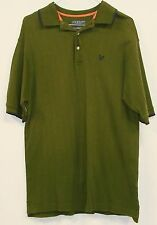 Lyle & Scott Mens Green Soft 100% Combed Cotton Short Sleeve Polo Shirt Medium M
