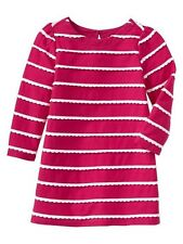 GAP Baby Girl 0-3 Months NWT Nautical Pink / White Scallop Stripe Dress