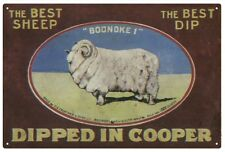COOPER SHEEP DIP 'Dipped in Cooper' Tin Sign 20x 30 cm