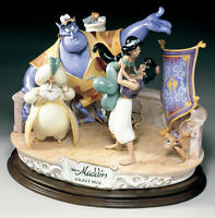 Disney  Aladdin Group Hug  Capodimonte Laurenz  C.O.A. Original Box