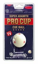 Super Aramith Pro Cup Cue Ball Measles Cue Red Spot Pool Balls w/ FREE Shipping