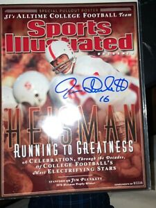 JIM PLUNKETT SPORTS ILLUSTRATED RUNNING TO GREATNESS SIGNED  ISSUE