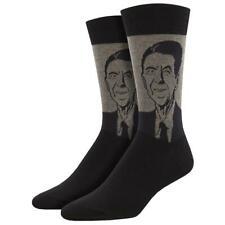 Socksmith Men's Crew Socks USA 40th President Ronald Reagan Novelty Footwear