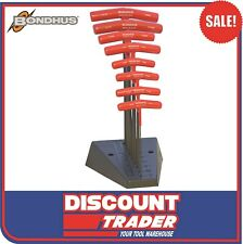 Bondhus T-Handle Hex Ball End Key Set 8Pc Metric with Stand Made in USA - 13189
