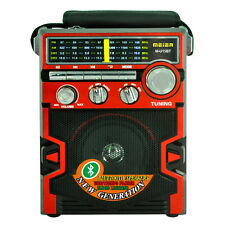 Radio Am Fm Lettore Mp3 Speaker Portatile Con Torcia Usb Sd Meier M-U15 hsb