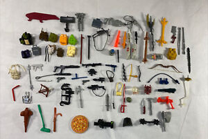 Vintage 1980s Action Figure Accessory Lot GI Joe Transformers TMNT Guns Weapons