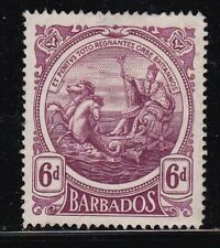 Album Treasures Barbados Scott # 135  6p  Colony Seal Mint NG