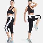 Donna Yoga Fitness Leggings palestra 3/4 corto Pantaloni Pantaloni Estivi