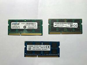 8GB 16GB 2Rx8 PC3L-12800S DDR3L-1600Mhz SODIMM Laptop Memory RAM 1.35V 204Pin