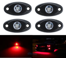 4Pcs Aluminum 9W Bright Red LED Cree Rock Lights Accent Under Car Body For Chevy