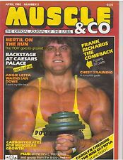 Muscle & Co. bodybuilding magazine/Frank Richards/Bertil Fox 4-85 (UK)