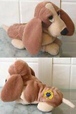 Applause Hush Puppies Brown Basset Hound Dog Plush Toy Stuffed Animal Beanie