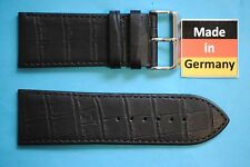 Coccodrillo Stile Cinturino Per Orologio In Pelle Di Vitello 30mm nero da Eulit