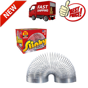 Original Slinky Walking Spring Toy Metal Slinky Loved Playing With Slinky NEW