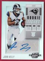 JOHN KELLY RC 2018 CONTENDERS OPTIC ROOKIE TICKET AUTO RAMS AUTOGRAPH