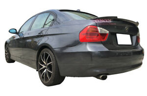 Matte black BMW E90 sedan V type trunk spoiler + A type roof spoiler◎
