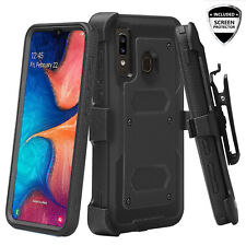 For Samsung Galaxy A50 Case, Built-in Screen Protector Holster Combo Phone Cover