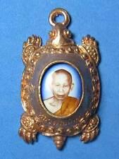 0518-TALISMAN THAI AMULET PHOTO TURTLE LP BOON KERD 53
