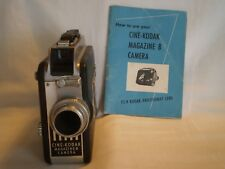VINTAGE CINE-KODAK MAGAZINE 8mm MOVIE CAMERA w/ KODAK ANASTIGMAT f/1.9 13mm LENS