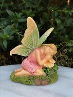 Miniature Dollhouse FAIRY GARDEN ~ Mini Purple Flower Butterfly Sparkle Girl
