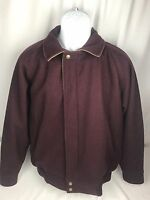 Vintage Woolrich Wool Men's Plum Purple Jacket Coat Button Zipper Hunting Retro