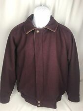 Vintage Woolrich Wool Men's Plum Purple Jacket Coat Button Zipper Hunting Retro