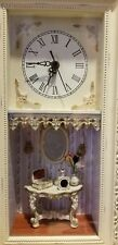3D QUARTZ CLOCK SHABBY CHIC Shadow Box - Scene: mirror_table-jewelry box-perfume