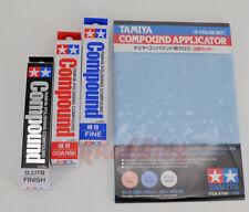 Tamiya Polishing Compound Coarse, Fine, Finish + Compound Applicator combo set