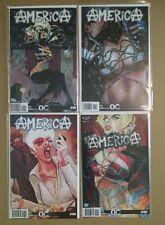 America #1 2 3 4 Overground Comics / American Mythology Complete Nm Set Lot