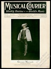 1929 Giovanni Martinelli photo Musical Courier framing cover