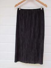 ASOS Womens Black Crinkle Midi Skirt - Size 12