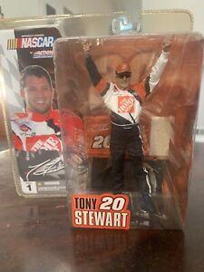 Tony Stewart - NASCAR McFarlane Series 1 Variant w/ Hat & Sunglasses NEW Sealed