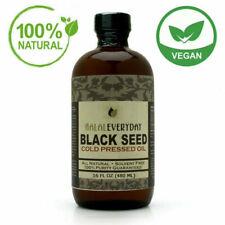 Black Seed Oil 100% Pure Natural Cold Pressed Cumin Nigella Sativa Non GMO GLASS