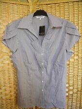 REDUCED LADIES PURPLE & WHITE STRIPE SHIRT - SIZE 18 - DEBENHAMS - NEW WITH TAGS